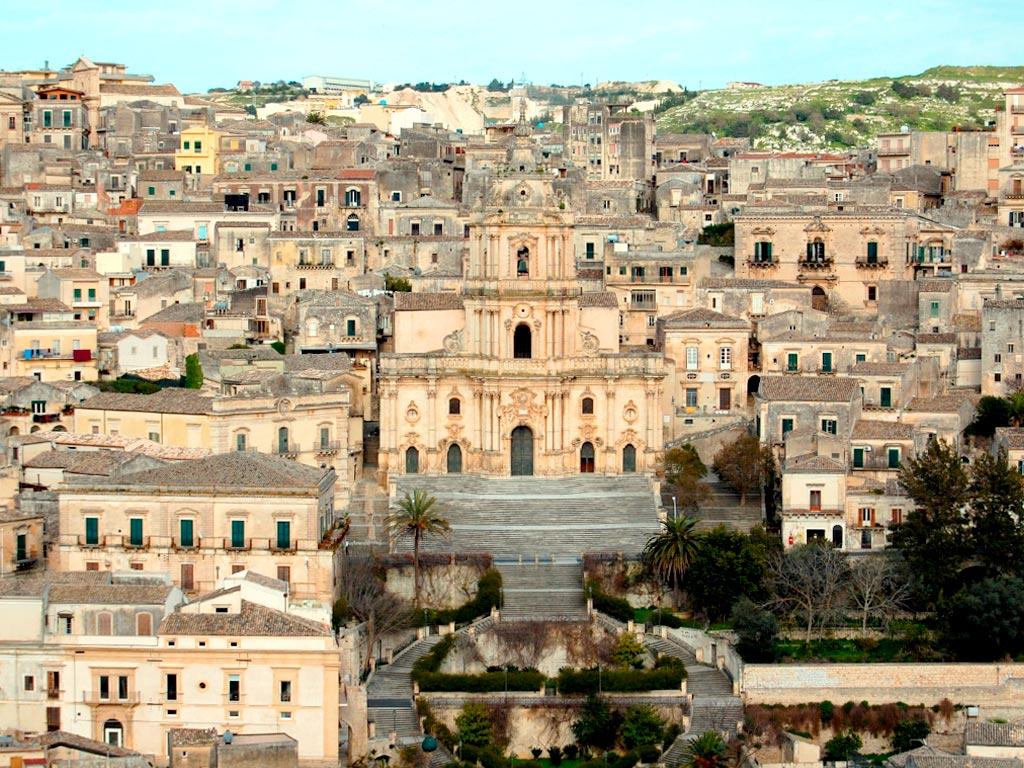 Modica panorama cattedrale